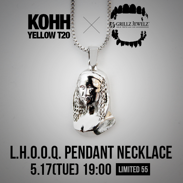 L.H.O.O.Q. PENDANT NECKLACE