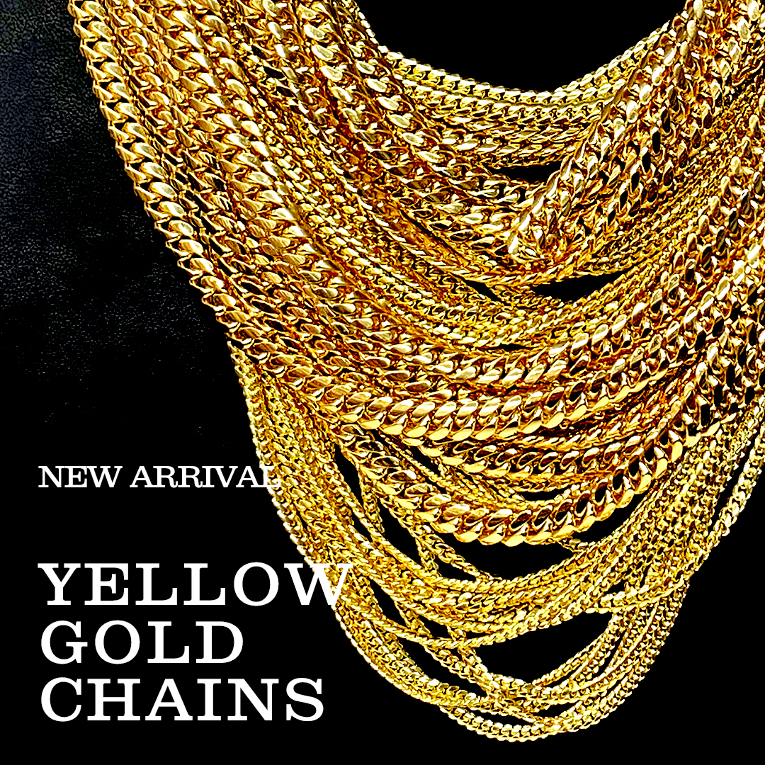 NEW ARRIVAL YELLOW GOLD CHAINS
