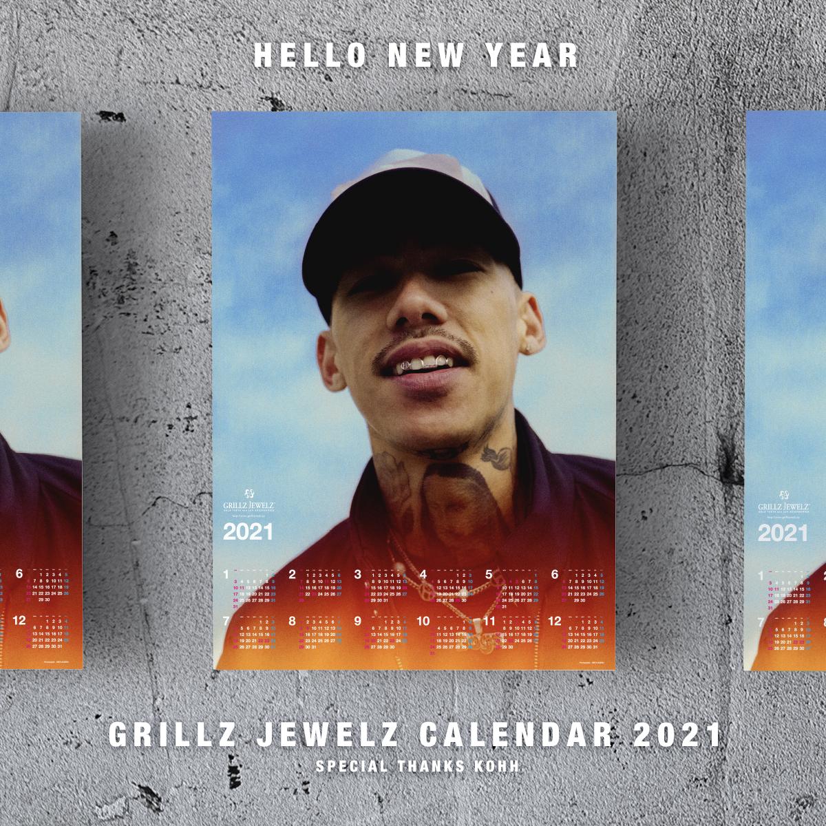 GRILLZ JEWELZ CALENDAR 2021