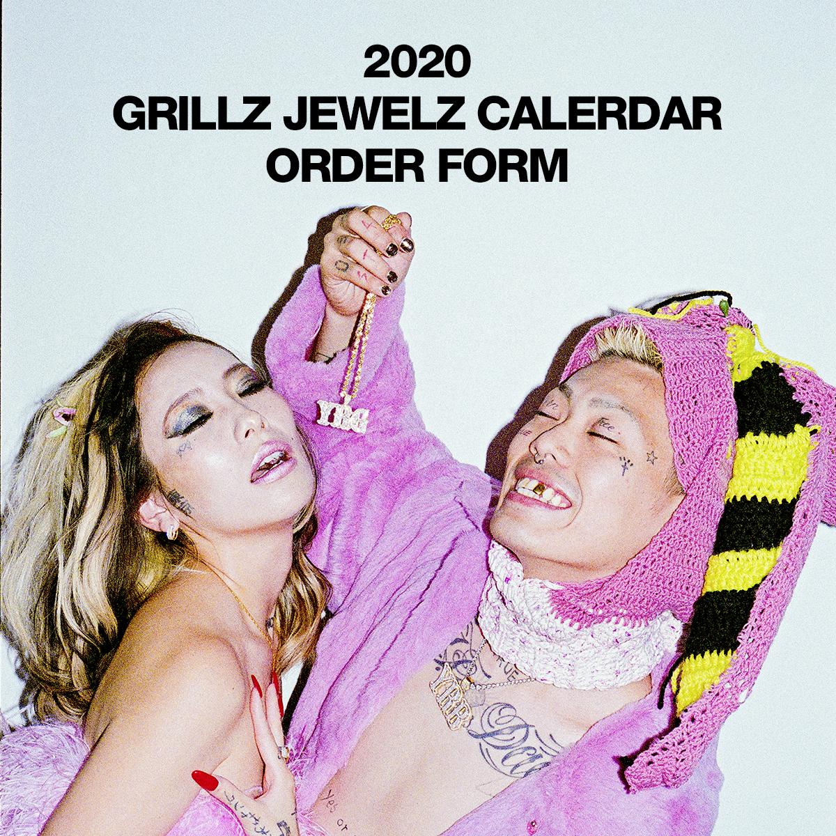 GRILLZ JEWELZ 2020 CALENDAR