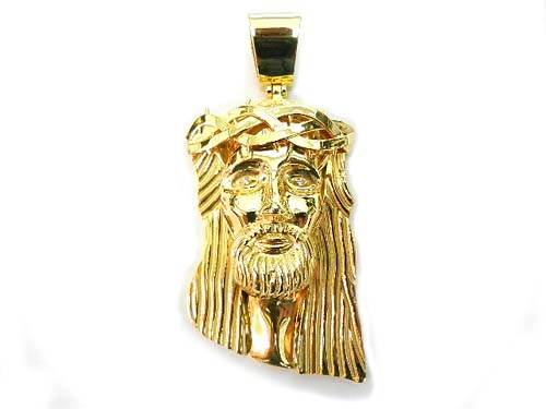 K14 yellow gold jesus piece14k k14 mozeypictures Image collections